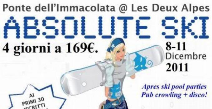 Ponte Dell'Immacolata: Absolute Ski @ Les2Alpes 8-11 Dicembre