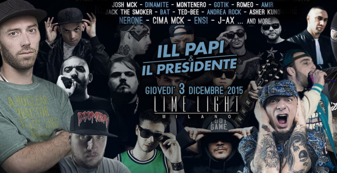 VINCI UN BIGLIETTO PER LA GRANDE NOTTE DEL RAP ITALIANO A MILANO IL 3 DICEMBRE 2015!