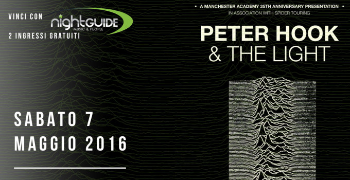 CONTEST - PETER HOOK & THE LIGHT AL WAREHOUSE, ROMA