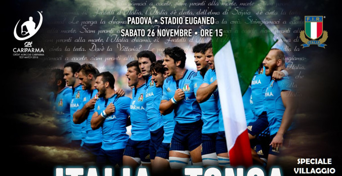 SABATO Il Rugby mondiale a Padova: per Italia - Tonga, il terzo tempo è live.