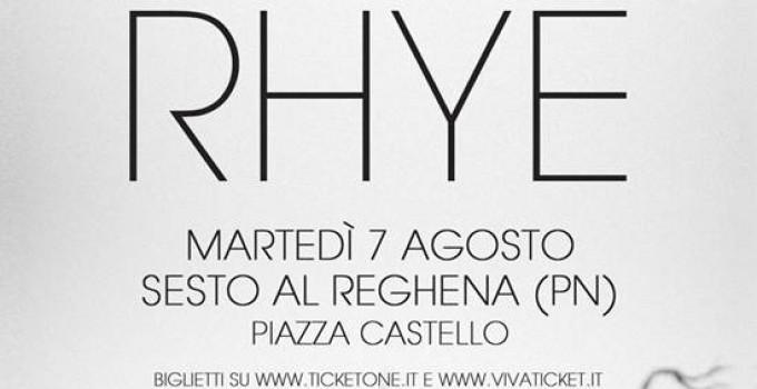 """RHYE in Italia ad Agosto con il nuovo album """"Blood"""""""