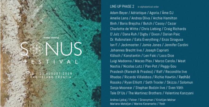 E' quasi completa la line up del Sonus Festival  2018