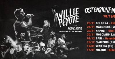 """WILLIE PEYOTE - ANNUNCIATE LE DATE DI """"OSTENSIONE DELLA SINDROME, ULTIMA CENA TOUR"""""""