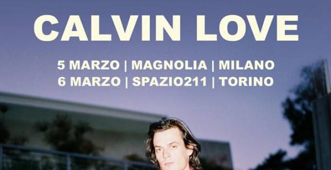 """CALVIN LOVE - il cantautore canadese in Italia a marzo con il nuovo """"Gighway Dancer"""""""