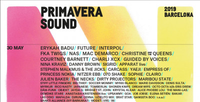Parità, eclettismo e audacia nella  rivoluzionaria line up del  Primavera Sound 2019