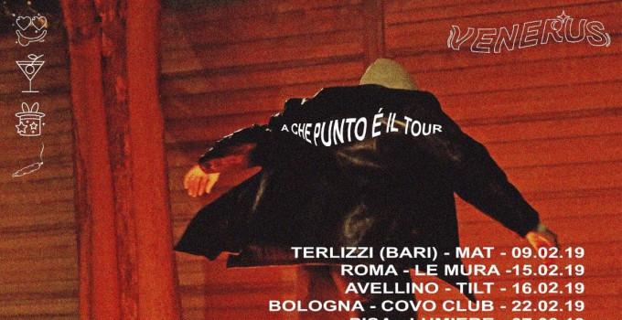 VENERUS: annunciate le date del tour italiano per presentare dal vivo il debut EP A CHE PUNTO È LA NOTTE (Asian Fake)