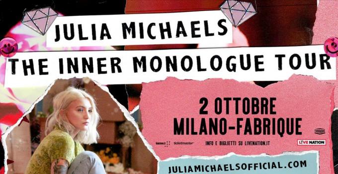JULIA MICHAELS: una delle autrici e popstar più apprezzate live in Italia il 2 ottobre al Fabrique di Milano