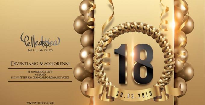 28/3 Pelledoca Milano compie 18 anni di party… e prima si balla con il sorriso