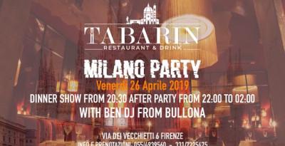 Ben Dj fa scatenare Firenze: 26/4 Milano Party @ Tabarin