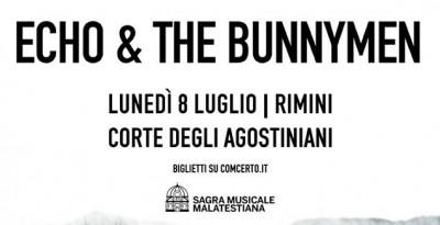 ECHO & THE BUNNYMEN live in Italia a luglio per un'UNICA DATA