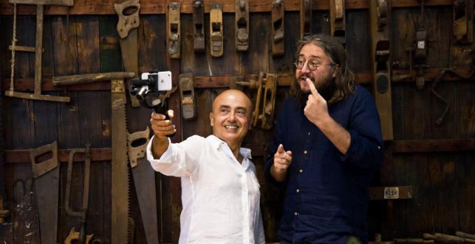 """online """"MANGIARE"""" la 9° puntata di ROMAGNOLI DOP, la web serie di PAOLO CEVOLI con Roberto Mercadini e Gianni Morandi."""