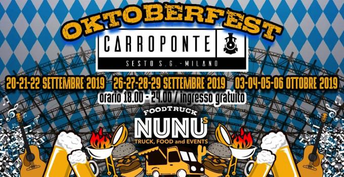 OKTOBERFEST: la più grande festa della birra in stile bavarese sbarca al Carroponte per tre weekend