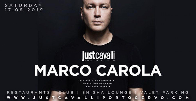 Just Cavalli Porto Cervo: dopo Steve Aoki (11/8), ecco nuove star: 13/8 Gianluca Vacchi, 16/7 Jay Santos 17/8 Marco Carola