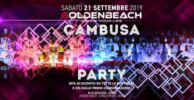 Golden Beach - Albisola (SV): 21/9 Cambusa Closing Party