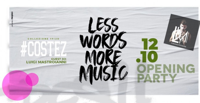 12/10 Costez - Telgate (BG) Opening Party. Al mixer ecco Luigi Mastroianni