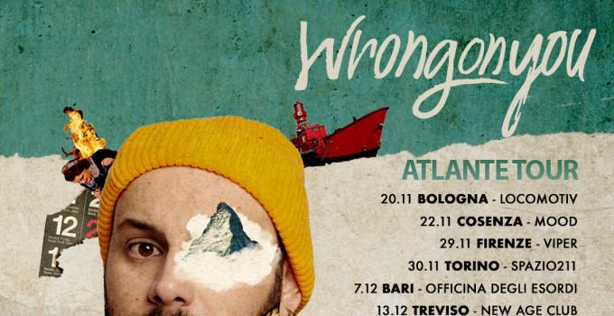 """Wrongonyou, annunciate le date di ATLANTE TOUR. Il nuovo album si chiama """"Milano Parla Piano"""", fuori il 18 ottobre"""