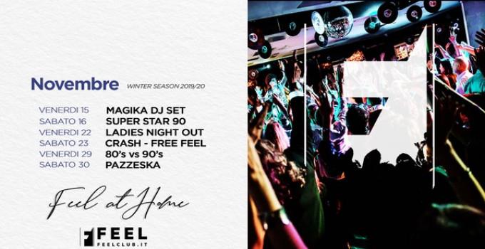 Feel Club, un inverno da ballare: 22/11 Ladies NightOut, 23/11 Crash! In Wonderland- Free Feel, 29/11 80s vs 90s, 6/12  24MilaBa