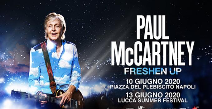 Paul McCartney torna in Italia con due date a giugno 2020
