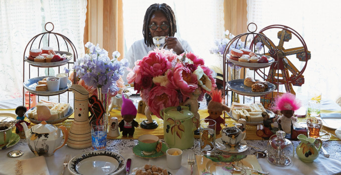"Whoopi Goldberg alla Libreria Palazzo Roberti.  Unico firmacopie in Italia in libreria con ""The Unqualified Hostess""."
