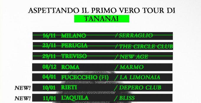 """Humble Agency - TANANAI, """"Aspettando il primo vero TOUR di Tananai"""", ecco due nuove date"""