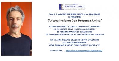 """Barley Arts supporta """"Ancora Insieme Con Presenza Amica"""""""