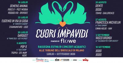 CUORI IMPAVIDI - Rassegna estiva di concerti acquatici alle tribune dell'Idroscalo di Milano