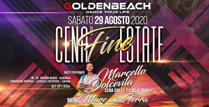 29/8 Cena di fine estate con Marcello Dolcevita & Luca Scremini @ Golden Beach - Abisola Superiore (SV)