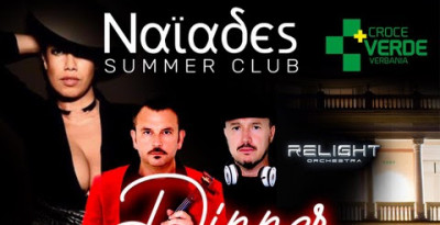 5/9 Dinner Show benefico a favore di Croce Verde Verbania @ Naïades Summer Club - Villa Giulia Verbania