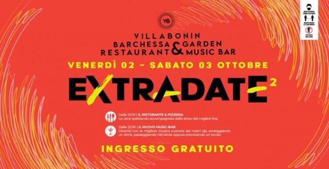 2 e 3 ottobre '20: Extradate² @ Villa Bonin Restaurant & Music Bar