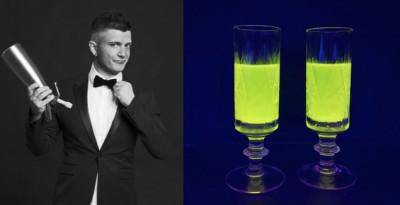 Cocktail Fluo che danno allegria con Sweet & Sour Glow by Michele Piagno: un brevetto mondiale distribuito da Mixò Italia