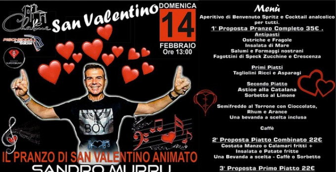 Sandro Murru Kortezman: 14/2 dj show di San Valentino allo Charme - Settimo San Pietro (CA)