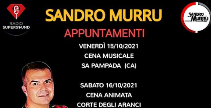 Sandro Murru Kortezman, tornano le cene animate e musicate: 15/10 Sa Pampada (CA), 16/10 Corte degli Aranci - Decimomannu (CA)